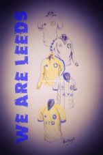Leeds Utd 1970's and 80's 'We Are Leeds'  Kits 20'' x 30'' Box Canvas